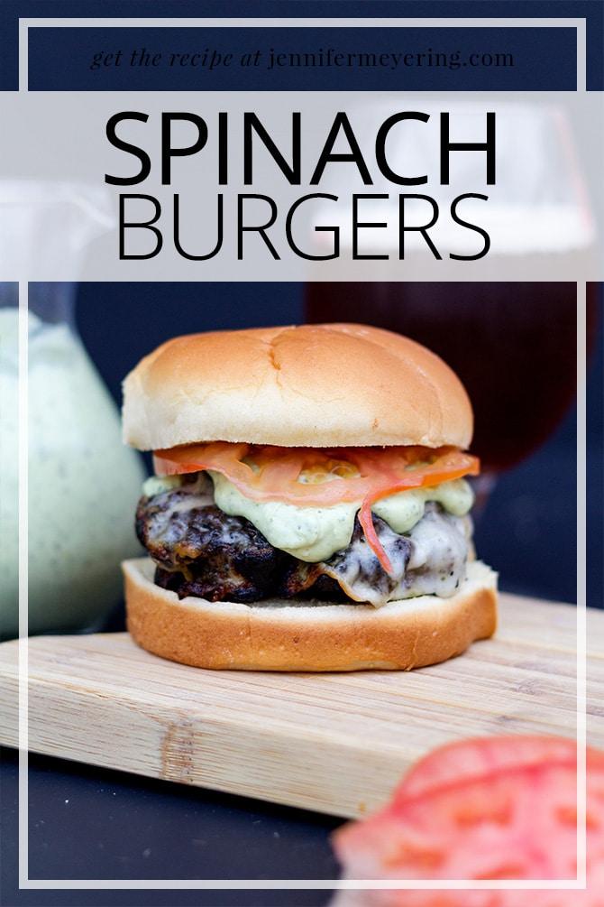 Spinach Burgers - JenniferMeyering.com