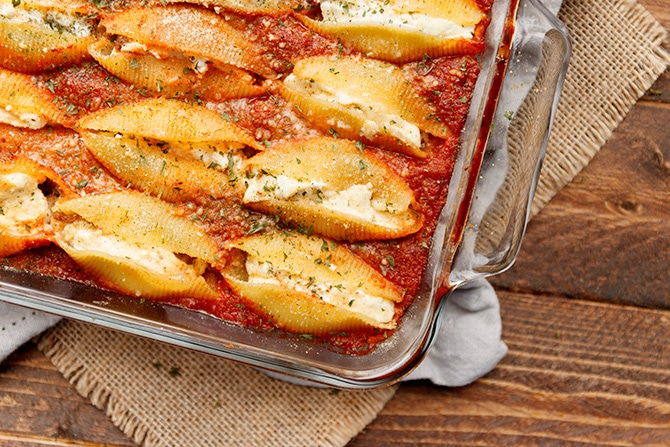 Sausage & Goat Cheese Stuffed Shells