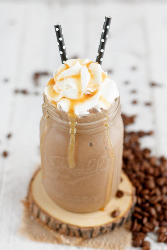 Salted Caramel Mocha Protein Shake