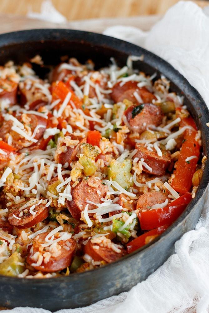 Sausage & Rice Skillet