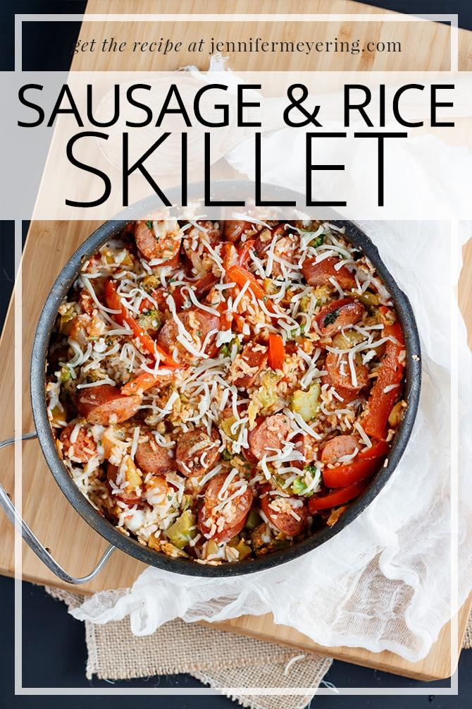 Sausage & Rice Skillet - JenniferMeyering.com