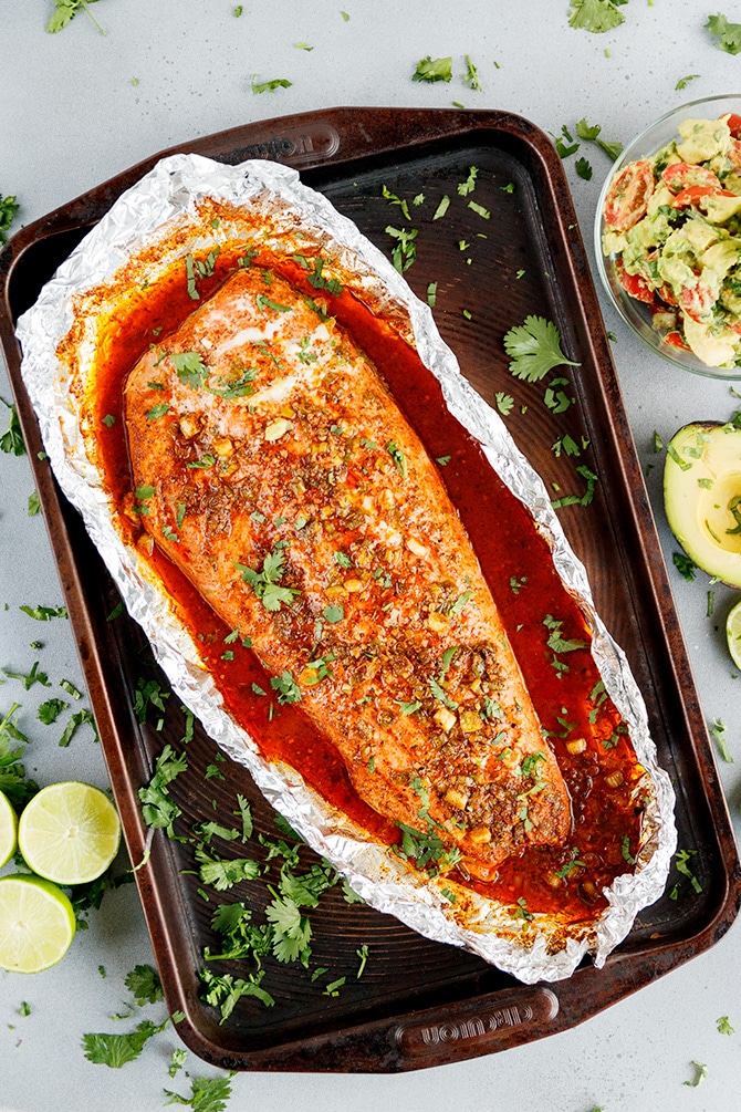 Cuban Salmon in Foil