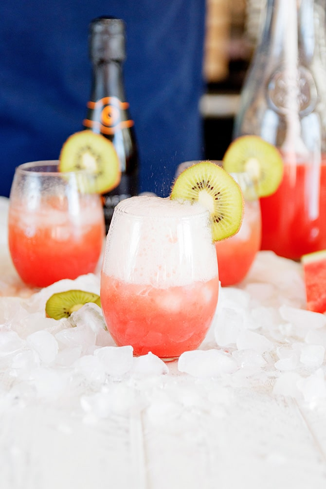 Watermelon Kiwi Prosecco Punch