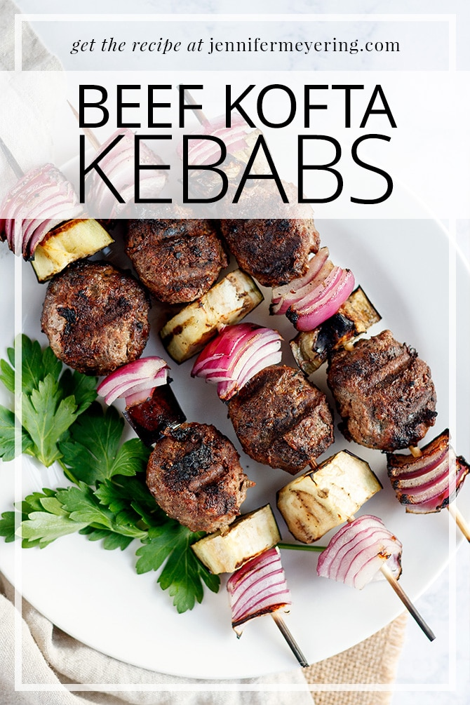 Beef Kofta Kebabs - JenniferMeyering.com