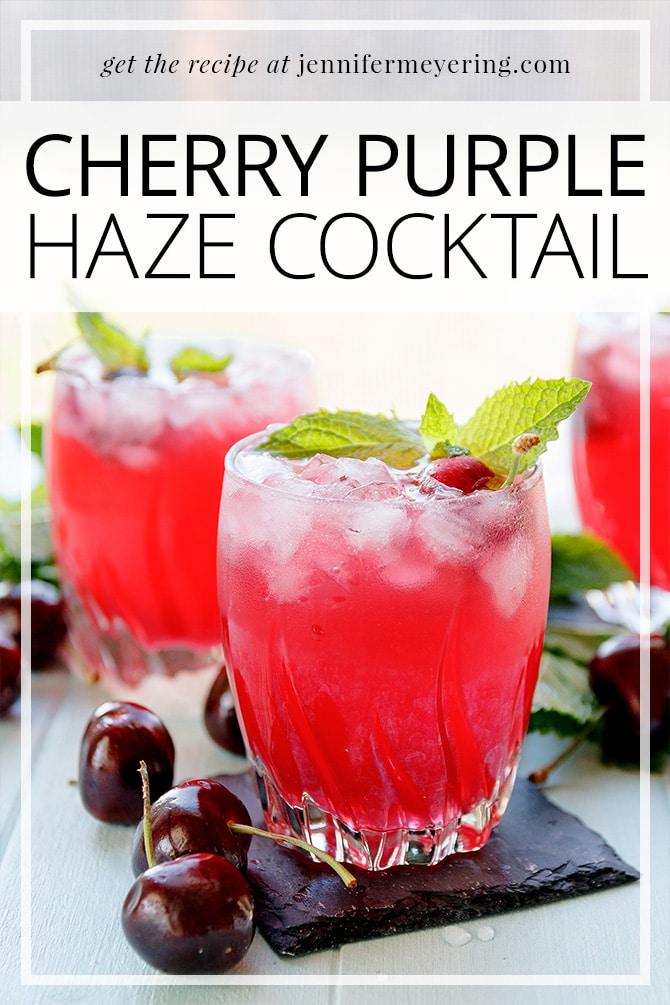 Cherry Purple Haze Cocktail - JenniferMeyering.com