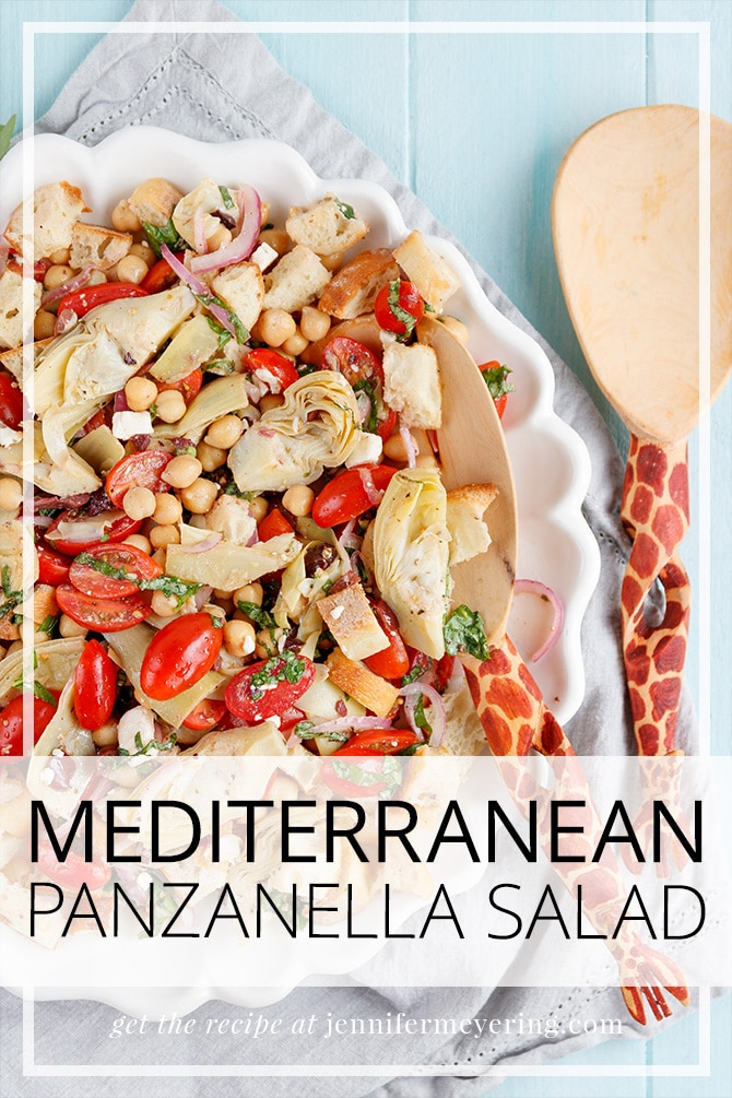 Mediterranean Panzanella Salad - JenniferMeyering.com
