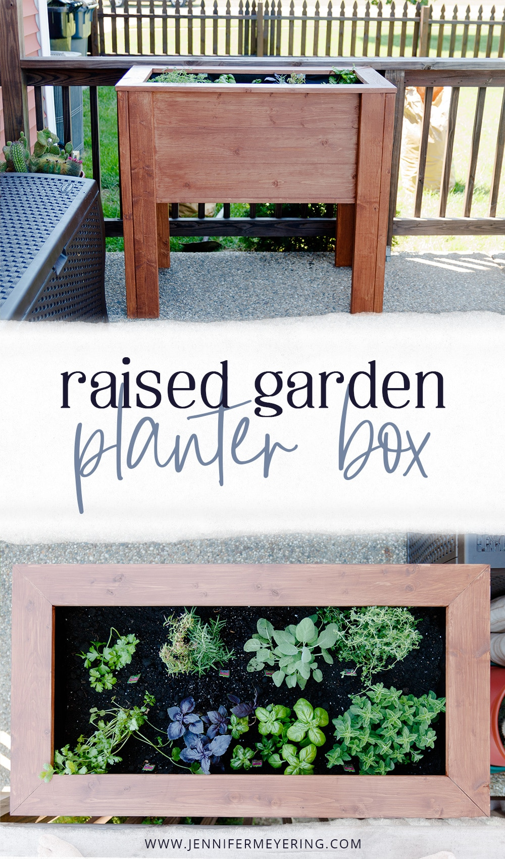 DIY Raised Garden Planter Box - JenniferMeyering.com