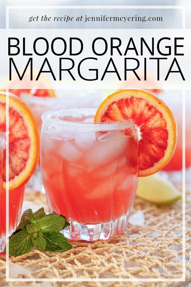 Blood Orange Margarita - JenniferMeyering.com