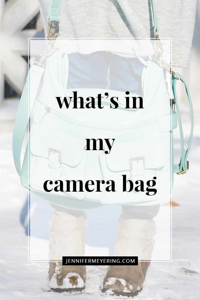 What's in My Camera Bag - JenniferMeyering.com