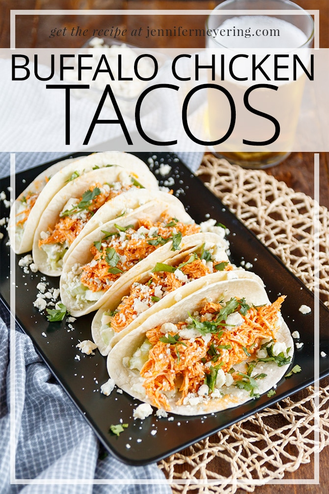 Buffalo Chicken Tacos - JenniferMeyering.com