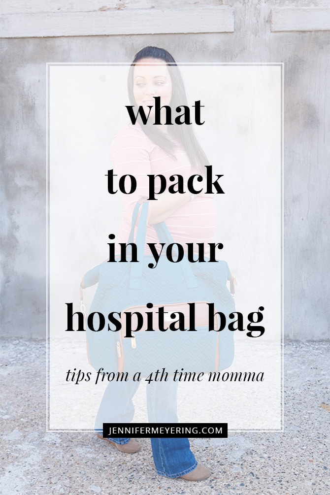 What's In My Hospital Bag - JenniferMeyering.com