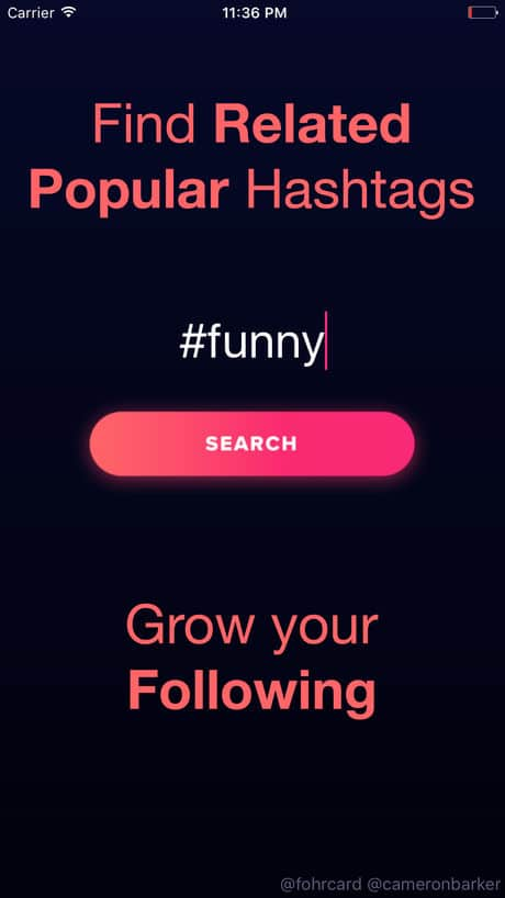 Hashtagger App