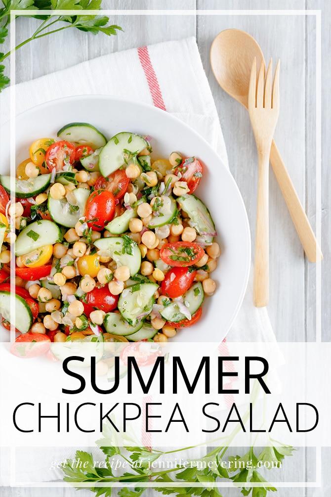 Summer Chickpea Salad - JenniferMeyering.com