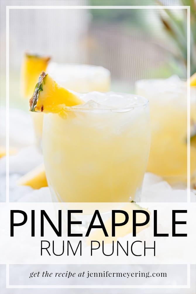 Pineapple Rum Punch - JenniferMeyering.com