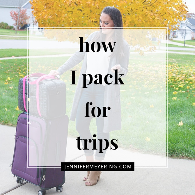 How I Pack for Trips