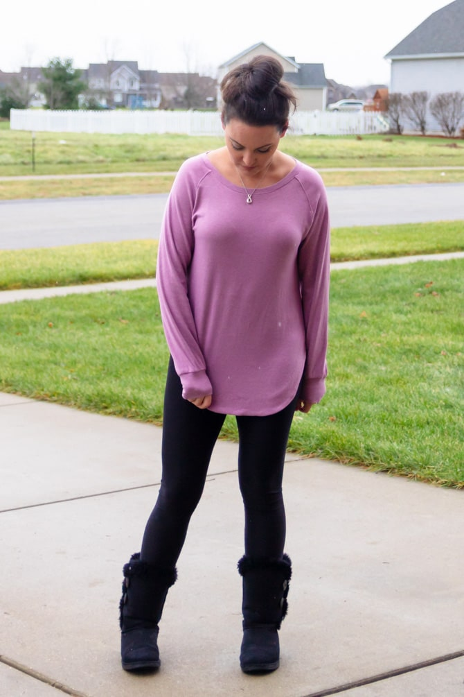 Amazon Find: Purple Tunic Sweater