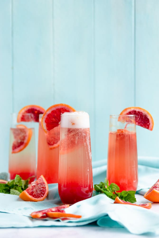 Blood Orange Prosecco Punch