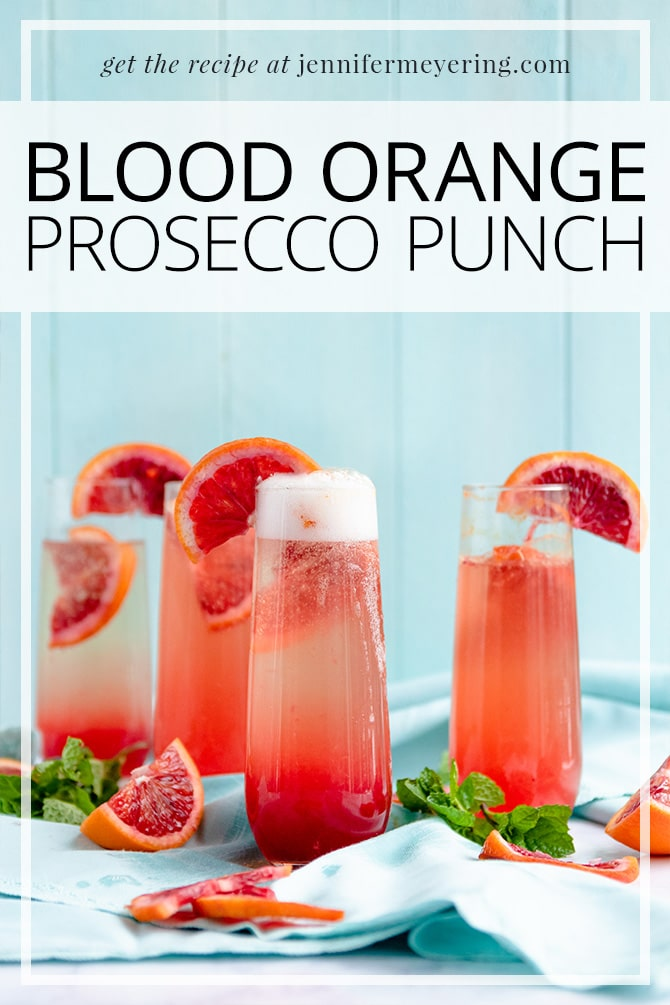 Blood Orange Prosecco Punch - JenniferMeyering.com