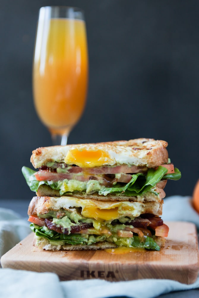 Egg-in-a-Nest Avocado BLT