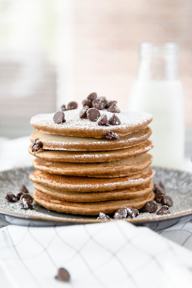 Chocolate Chip Coffee Pancakes