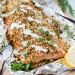 Dijon Herb Panko Crusted Salmon