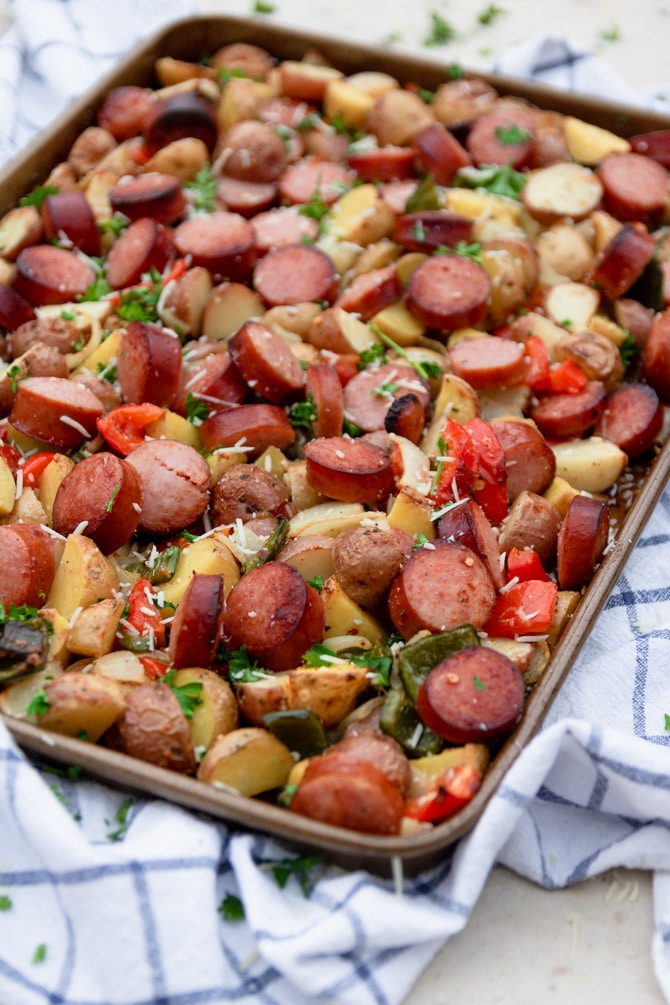 Sheet Pan Sausage & Potatoes