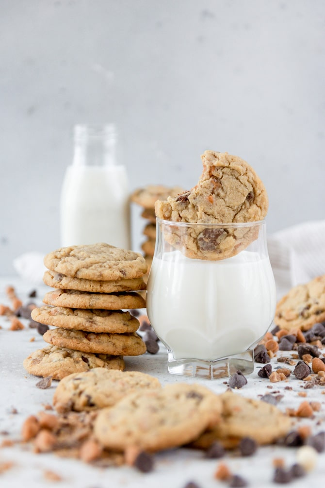 Toffee Butterscotch Chocolate Chip Cookies
