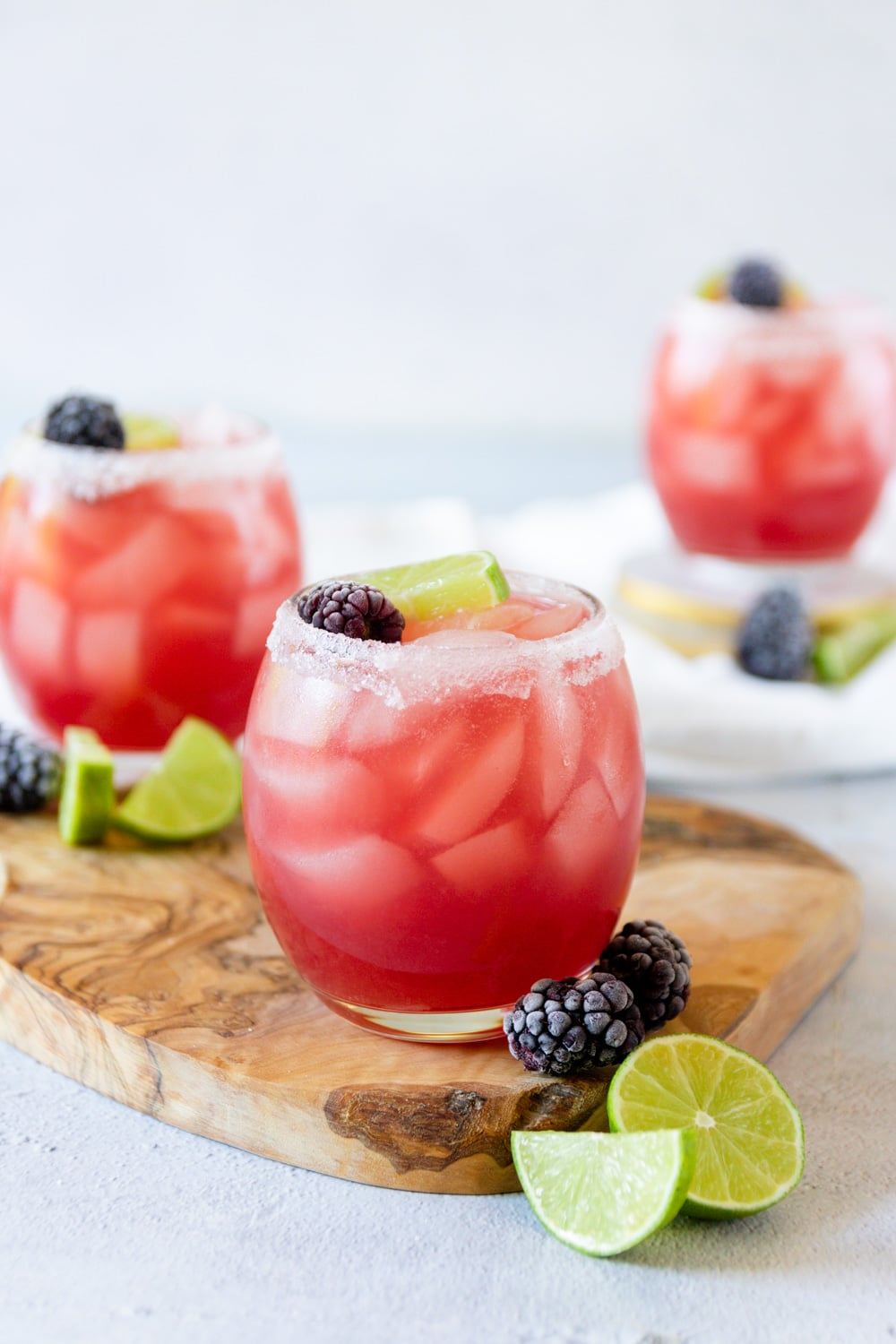 Blackberry Lime Rum Punch