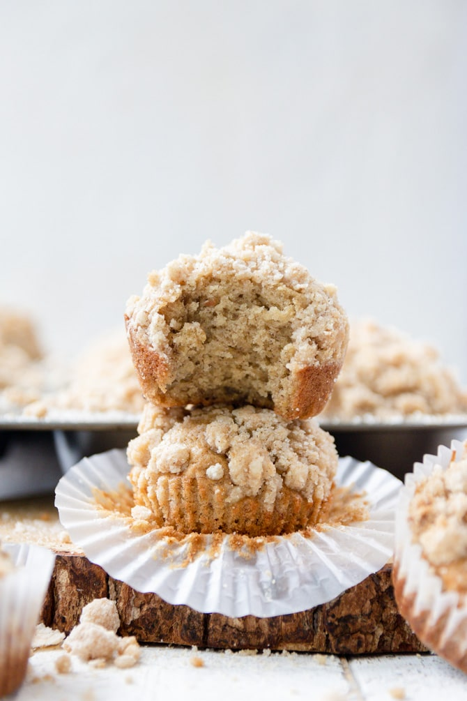 Brown Sugar Banana Streusel Muffins