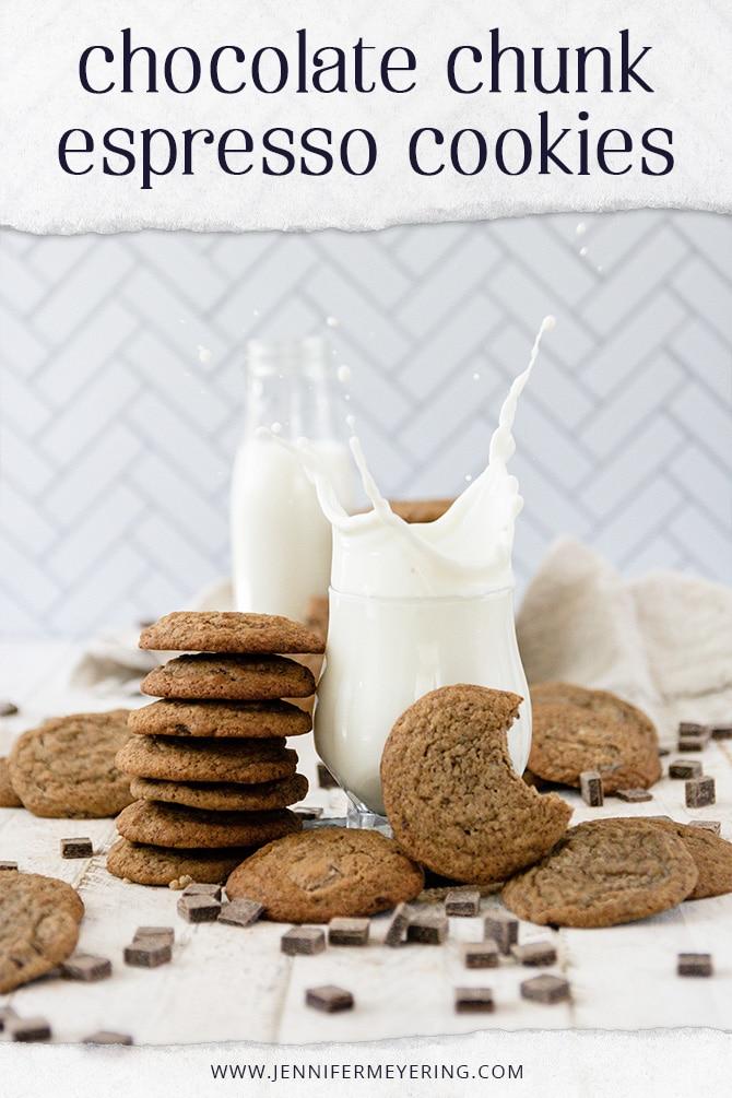 Espresso Chocolate Chunk Cookies - JenniferMeyering.com