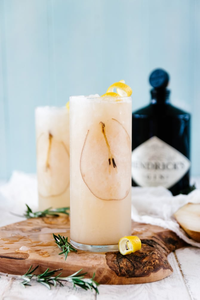 Pear Prosecco Shrub