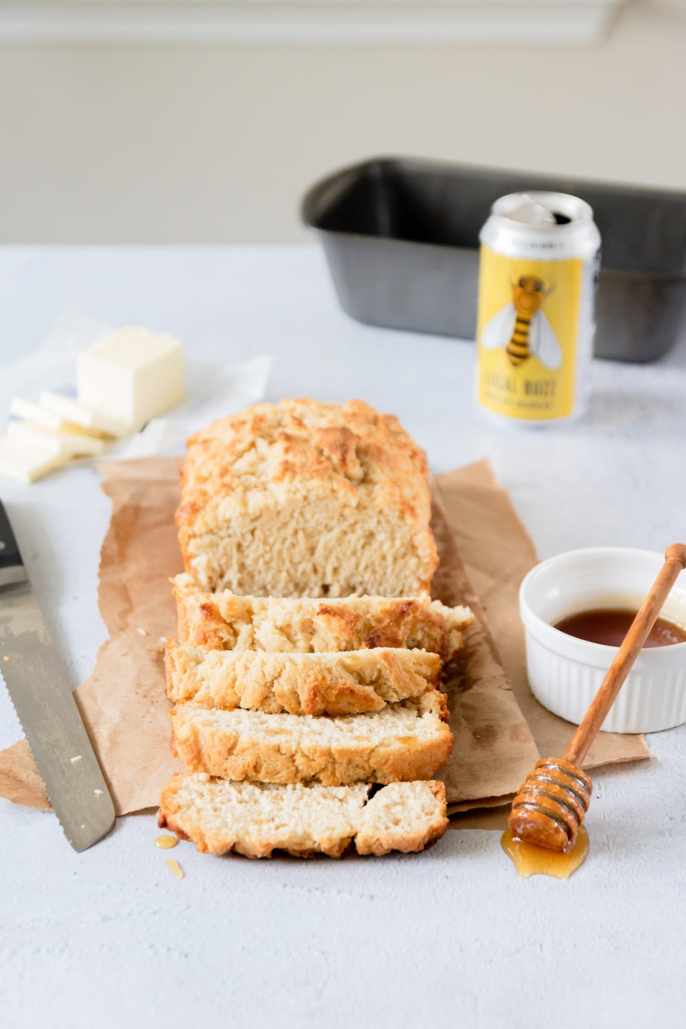 Honey Butter Beer Bread