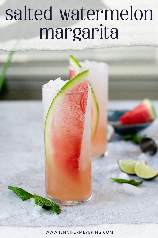 Salted Watermelon Margarita - JenniferMeyering.com
