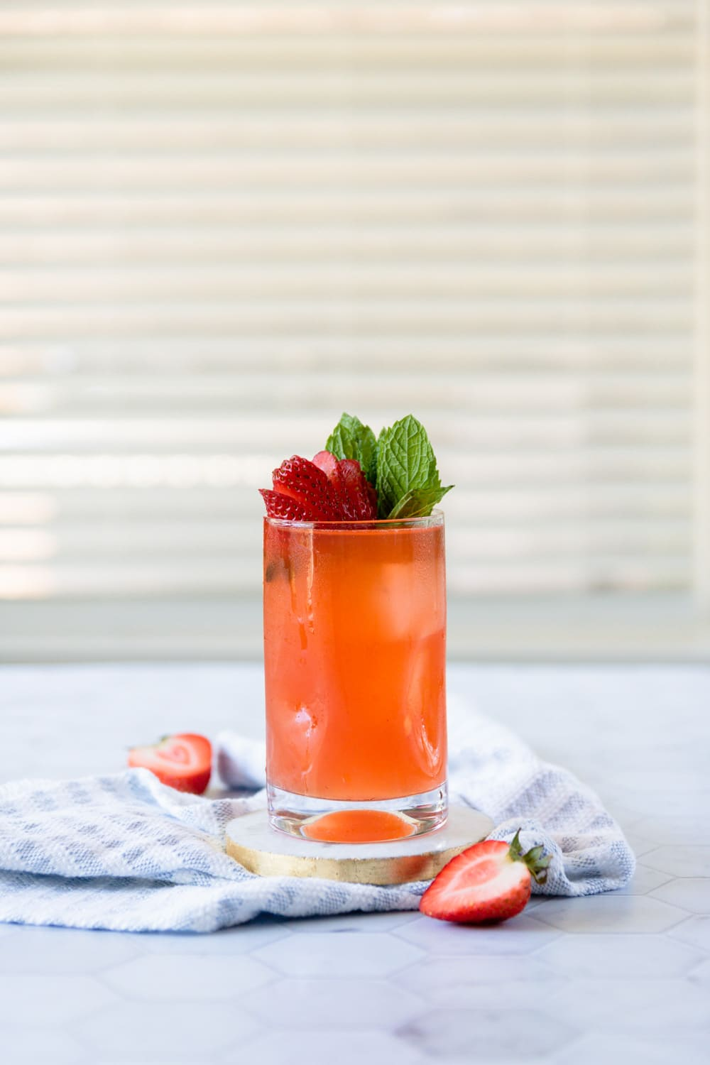 Strawberry Mango Bourbon Smash