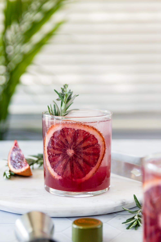 Blood Orange Rosemary Vodka Sparkler