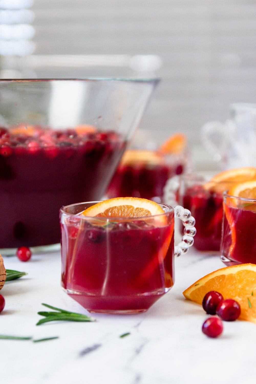 Cranberry Orange Prosecco Punch