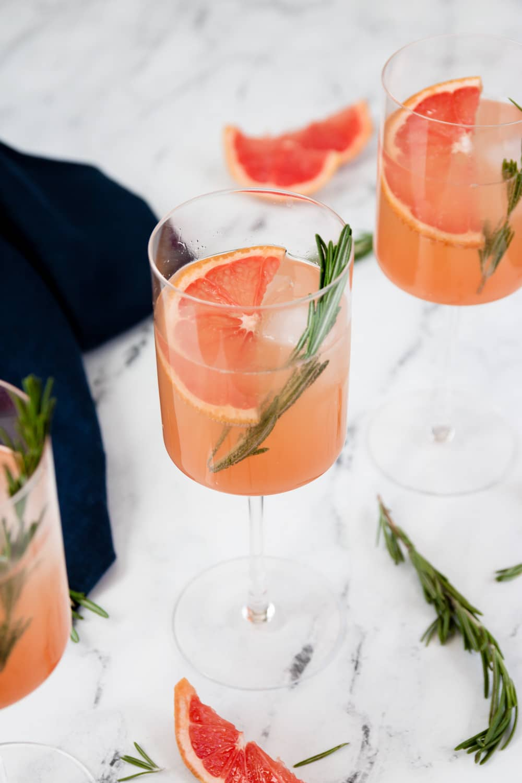 Grapefruit Rosemary Gin-mosa