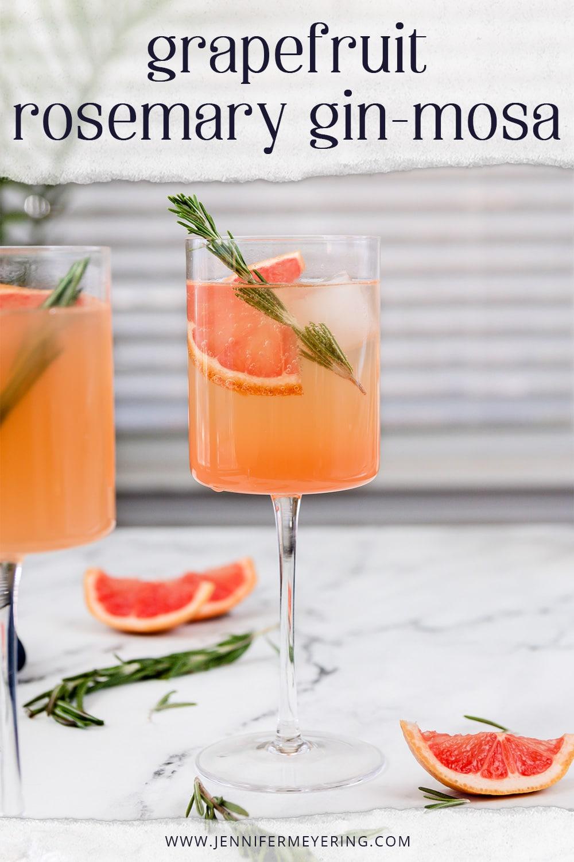 Grapefruit Rosemary Gin-mosa - JenniferMeyering.com
